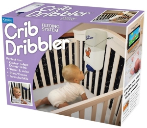 Okay, this is just wrong. Seriously, cribs aren't cages and babies aren't pets. Also, while you're at it, why don't you just get a baby crib exercise wheel for your baby to run on? Fortunately, this isn't a real product, just a prank box for a baby shower. Well, as far as we know.