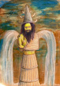 Enki is seen as a creator and benefactor of mankind who warned humanity about the Great Flood. He is the keeper of the Mes gifts of civilization. However, his personal life is utterly depraved.