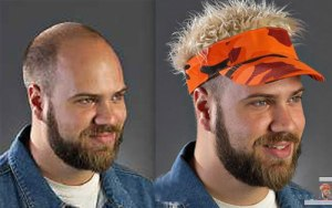 Of course, these come in a variety of different styles such as the Guy Fieri, the 1980s Lynyrd Skynyrd fan, the Biker, the Bedhead, and the Guy from Trailer Park. There are alot on their website, including one with dreadlocks (which I'm not kidding about by the way). Still, he's probably better off without one.