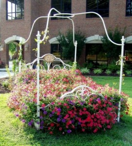 Now this is the kind of flower bed I'm talking about. Love the flowers of it and the vines. But please, no critters.