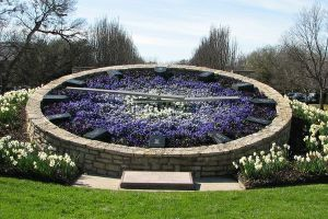 This is from a botanical garden place in Fort Worth. And yes, floral clocks can be quite big. They have to be.