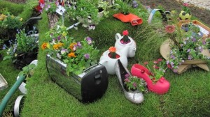 I'm not sure about planting flowers in a toaster or shoes. Then again, hope nobody plugs the toaster in, especially during a thunderstorm.
