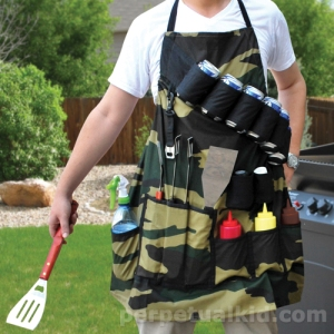 This apron comes with room for all the grilling essentials such as grill tools, condiments, and beer cans. Because when your dad goes to grill, he needs to be prepared for anything.  I'm sure this would make Steven Raichlen jealous.