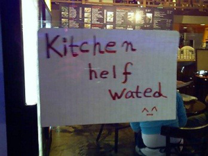 Seems like they need someone with good English skills. Either that, or someone who knows how to spell simple words like