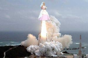 Okay, there's no way in hell that I could take this picture seriously. I mean the bride basically has rocket thrusters on her dress. This is just crazy.