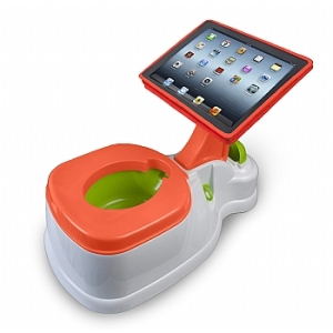 With all the crap on Twitter and Facebook these days, it's never too early to start trolling with this costing $499. Nevertheless, an iPad is probably not necessary for a potty training toddler. Still, does it come in adult size?
