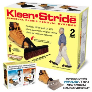 Because if he can walk, he can clean. Comes with attachable rake and plow, which are sold separately.