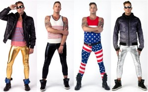 Leggings tend to walk a fine line between tights and pants, so why should women be the ones pushing boundaries of appropriate apparel? Great for hipster dads or any father who doesn't give a flying fashion statement. Still, gives him the opportunity to channel male icons like David Bowie, Freddie Mercury, George Michael, and Elton John.