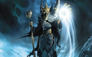 A god of death and pestilence, Namtar is an assistant to his mother Ereshkigal in the Underworld. Though people give him offerings to prevent his wrath, he isn't well liked and he knows it. Possible inspiration for the Grim Reaper.