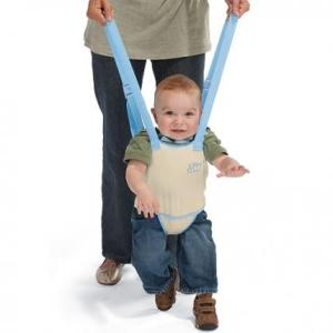 Sure babies must learn to walk sometime. But putting them in a harness 57 times a day just seems too much trouble than just having them hold your freaking hand.