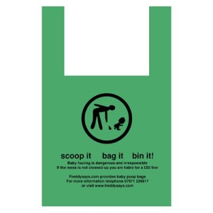 Now as someone who lives in the country, I think a poop scoop bag is ridiculous enough in its original use. But using one for babies? Seriously, we have diapers for a reason.