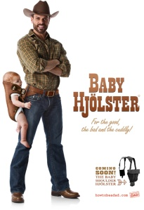 Because in Texas, carrying a baby has to be like carrying a gun: from the hip. Seriously, why? It's stupid.