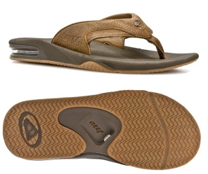 These sandals have a hidden bottle opener in the middle of the sole. So if you want to see your dad open a bottle with his shoe, you shouldn't get this. Seriously, that's gross.