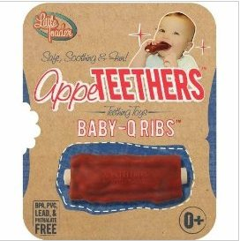 Just because your baby is teething doesn't mean it's time to teach them how to eat some baby back ribs. Seriously, BBQ ribs are for grown-ups.