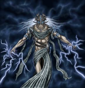 As a storm deity, Ishkur can be a force of nature. Sometimes his rains can lead to great abundance and fertility while his propensity for natural disasters can lead to widespread devastation.