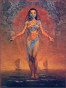 A benevolent goddess, Nanshe embodies social justice principles like caring for orphans and widows, advising those in debt, and taking in refugees. Nevertheless, she doesn't figure as much in myths as goddess like Inanna and Ereshkigal do.