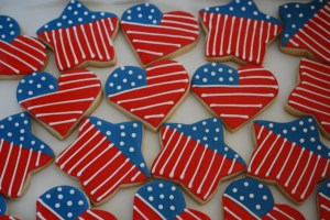 Now I'm sure these were made in a bakery of some sort. But still, you have to love these cookies. If not, then you're not patriotic.