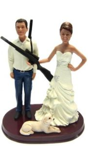 Because marriage is all about you and your partner against the rest of the world. Seems like the bride really loves her shotgun, perhaps a bit too much. Then again, at least the guns are for hunting as far as I know.