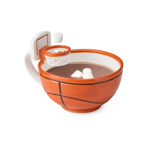 Of course, it's best for hot chocolate so you can put the mini marshmallows through the basket. Also great to drink from during March Madness.