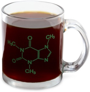 Now if there's a chemist or chemistry major in your life, this would be the perfect gift for them. And yes, that molecule is caffeine, the pick me up for the masses.