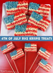 Also, seems like Rice Krispies tend to be used a lot for holiday treats, too. Still, you can either put them on a stick or in a dish. Pretty clever if you think about it.