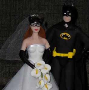 Yeah, I'm sure a marriage between Batman and Catwoman would seem like a match made in heaven. But keep in mind, Batman is a psychological wreck with childhood induced PTSD who thinks dressing up as a bat as well as acts that his brand of vigilante justice and vengeance will honor his dead parents' memories. And Catwoman, well, she's a habitual thief and possibly can't be trusted.