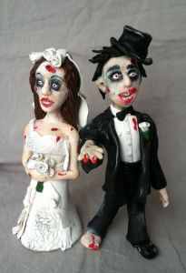 Sure this might be a great wedding cake topper, if you plan to get married on Halloween. Otherwise, I'm sure nobody wants to think about zombie hordes hungry for your brains on what's supposed to be a happy occasion.