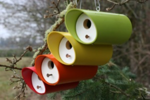 I like how these have a sleek design as well as come in a variety of colors. I'm sure any bird is going to recognize a birdhouse like that, that's for sure.