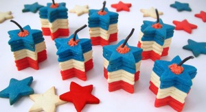 Now these couldn't be made without the magic of food coloring. Still, this won't stop you from stacking them as well as giving them features of star shaped firecrackers.