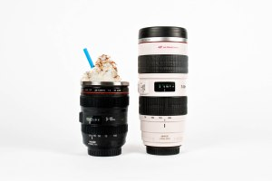 Let's hope a real photographer doesn't get this camera lens mug mixed up with a real camera lens. It can get awkward.