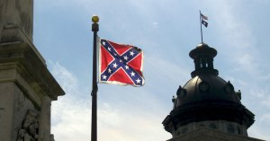 Despite that the shooting at Emanuel A.M.E. was certainly a deliberate act of white supremacist terrorism,  South Carolina's State Capitol continues to fly the Confederate flag at full mast. This is very disrespectful  to the black victims, their families, and the Charleston black community. This banner has been used to legitimize widespread racism even if such acts were violent, illegal, and dehumanizing.