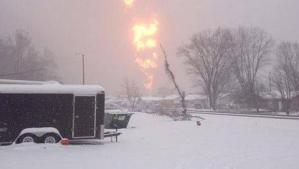 This is a picture of an explosion of an oil train derailment in West Virginia back in February of 2015. Now West Virginia is a prime area for environmental disasters since it's economy and government is basically owned by polluting industries as well as a large  population of poor people who can't say no regardless of political affiliation. As of 2015, the state is now a dumping ground for the American energy industry. Now for the people of this state, the debate over green energy may be a matter of life and death. And as long as polluting industry remains profitable, West Virginians are basically screwed. Seriously, it's very bad there.