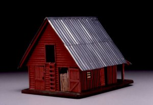 Now this seems almost like a model toy barn you'd see next to some antique doll's house. Still, I think I like the wooden rustic barn better. Aluminum makes it seem more industrial looking.