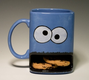 As tacky as it seems, you can't hate this mug for God's sake. Seriously, everyone loves Cookie Monster even though he's not the best role model on Sesame Street since his dietary choices aren't the greatest. But we love him anyway.