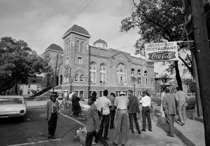 For much of American history, black churches have played significant roles in the African American community, especially since they were often hubs for political organization during the Civil Rights Movement. This made such places key targets for white supremacist violence. Shown here is Birmingham, Alabama's 16th Street Baptist Church which was subject to a Klu Klux Klan bombing in September 16, 1963 which killed 4 young girls and wounded 22.
