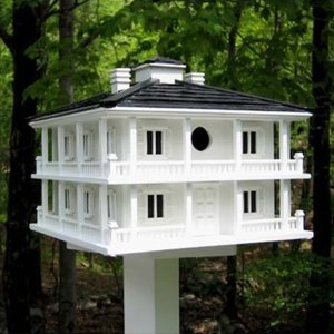 Now this seems like a kind of birdhouse you'd see in the antebellum South. Of course, you know what the rich planter birds used to harvest the birdseedl