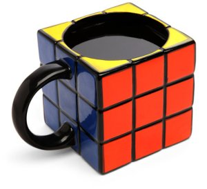 Of course, in order for the Rubix Cube to be a workable mug, it has to be solved first. Still, not sure if it takes the fun or frustration out of it.