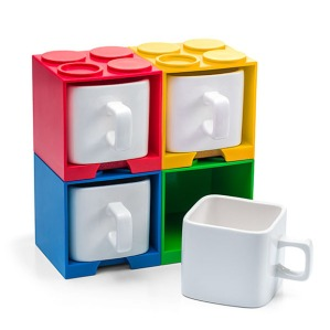 Seems like having a bunch of stackable brick mugs might be quite convenient to have. Then again, people might wonder why you're drinking from a square mug.