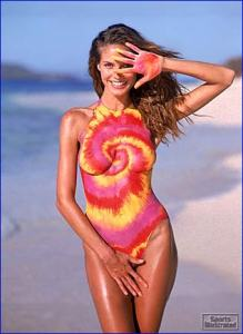 For those thinking about having a body paint swimsuit, my advice to you: don't. Seriously, do you know why she has her hand between her legs. And I'm sure she's a model so she could get away with it while most people would get arrested.