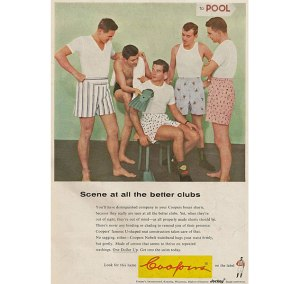 Not only are these guys in obnoxiously tacky boxers, but I'm sure they'll engage in an orgy with the flippers anytime soon. Oh, I'm sure we all experimented at that point in our lives.