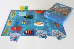 Created in Germany during the 1990s, this game has lifeboats trying to make their way to several islands over the horizon. Of course, this also involves throwing opponent sailors overboard to the sharks.