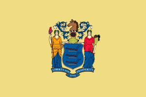 Now New Jersey's flag looks quite decent with the exception of the color. And the horses' head. Doesn't help that it's been the setting of two award winning HBO crime shows like The Sopranos and Boardwalk Empire.