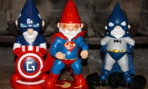 Now these consist of Super Gnome, Bat Gnome and Captain Americgnome. Still, I have to warn you that while they may guarantee protection, they're also known to inflict a lot of collateral damage.