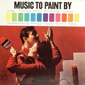 Still, I don't think either one of them is in appropriate housepainting attire, which is crap clothes you can throw away. Also, I'm sure dancing isn't a good idea when you're holding paintbrushes either. I mean paint can really get in your clothes.