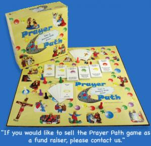 Now Prayer Path is a Catholic game supposed teach about the rosary and other stuff related to Mary and Jesus. Let's just say children can learn all this quicker while in religion class for 2-3 hours than this board game.