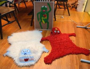 Of course, one of these rugs is bound to frighten a small child. The other, not so much. Still, I'm not sure you'd want either of them in a home with children.