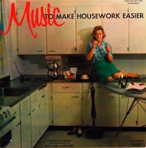 Okay, let's get this straight. This woman is obviously not a housewife in any way, shape, or form. No real housewife would spend all day sweeping and ironing in business attire, even in the 1950s. It's more like it that she's a part-time working mom who's taking a small smoking break who's rushing to get everything done before her husband and kids come home.