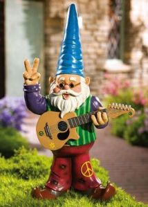 Of course, I'm sure he's on some kind of weird grass in the yard. Probably the kind of gnome you'd want for your marijuana garden. Still, the cone hat really stands out for him.