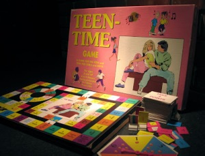 Teen Time is said to be a game that's hilariously bad in later editions. In these, the game takes place at a mall with the object being to get engaged. Oh, and those who do wrong, get sent to the video store (which wouldn't be much of a punishment for some teenagers). There's also a card about being caught with a weapon.