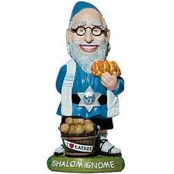 Of course, this is probably the most Jewed out gnome out there. He even has a Star of David with a Hebrew inscription on his belt for God's sake.